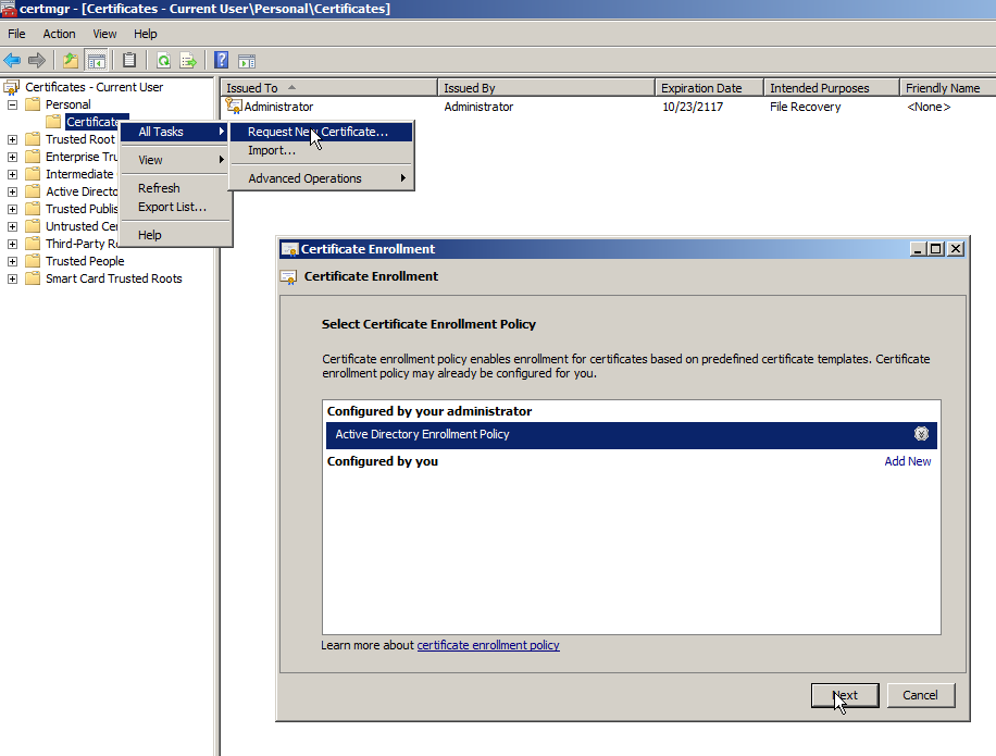 Windows Logon And Smime Email Encryption With Active Directory