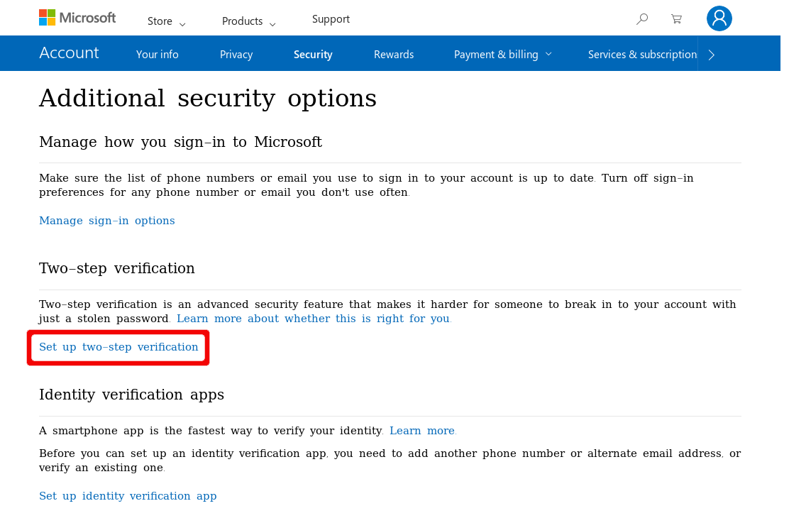 Two-factor Authentication for Microsoft Account | Nitrokey