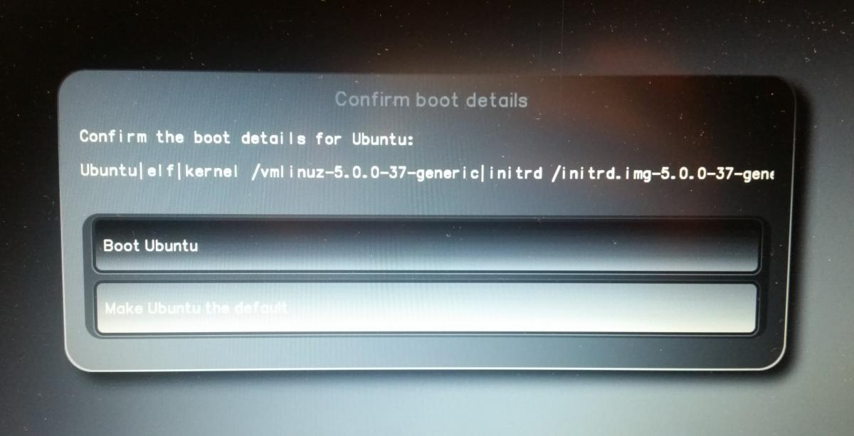 Confirm Boot Details