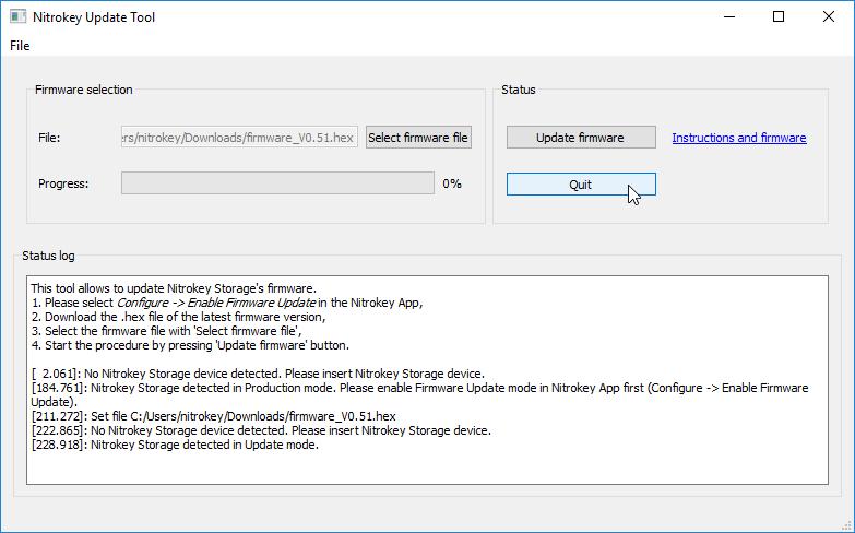 Update Firmware Of Nitrokey Storage Nitrokey