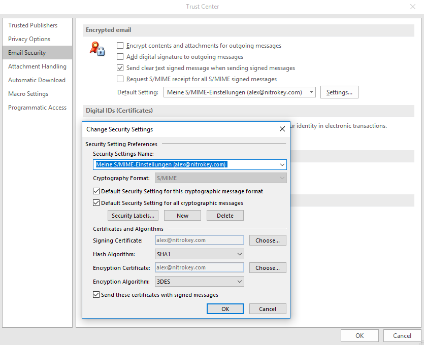 Smime Email Encryption With Outlook Nitrokey