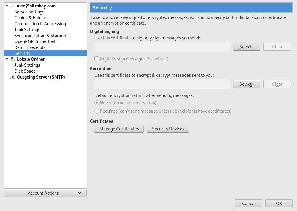 Smime Email Encryption With Thunderbird Nitrokey